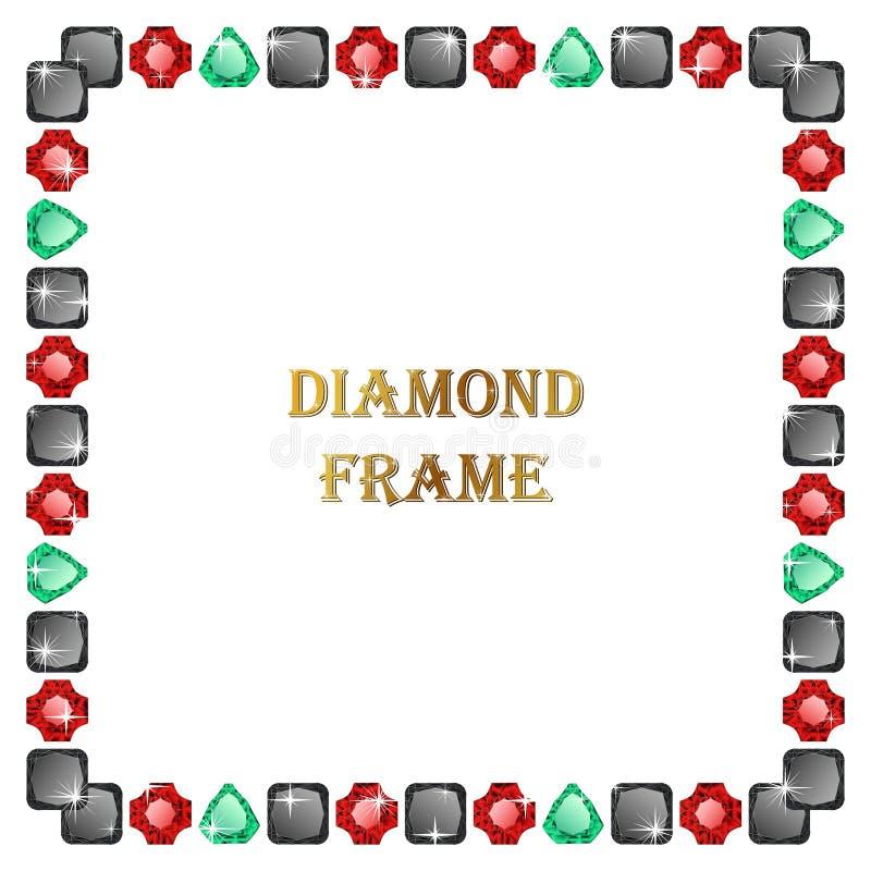 Diamanten vierkant kader vector illustratie