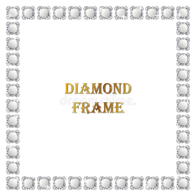 Diamanten vierkant kader stock illustratie