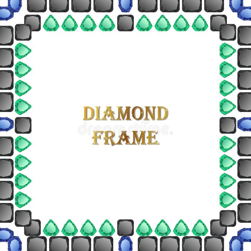 Diamanten vierkant kader royalty-vrije illustratie