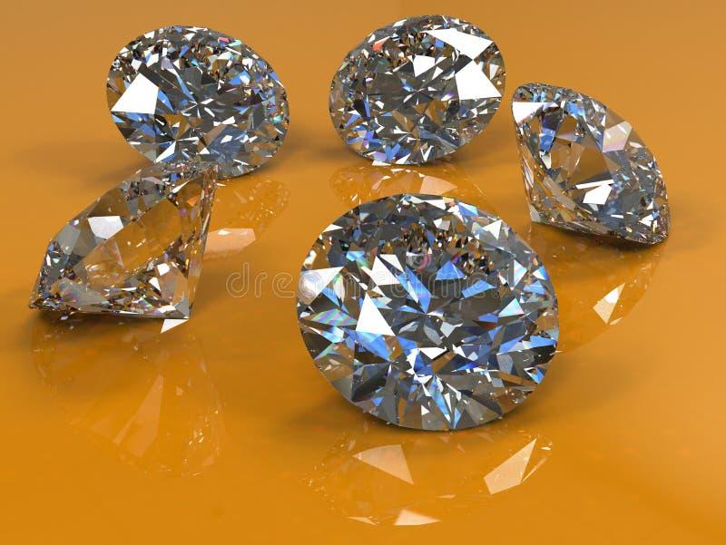 Diamantenbezinning stock illustratie