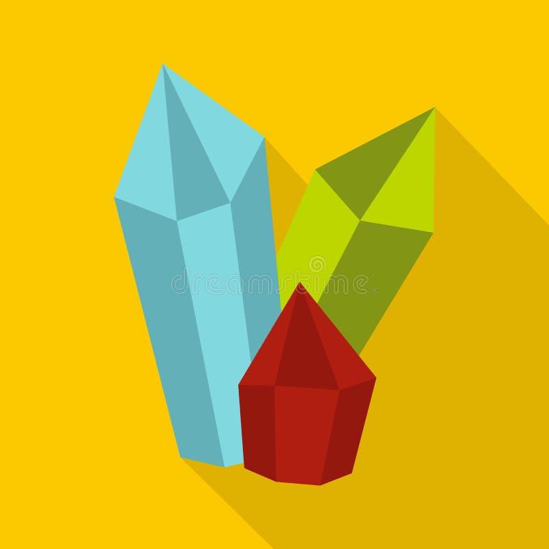 Diamantenpictogram, vlakke stijl vector illustratie