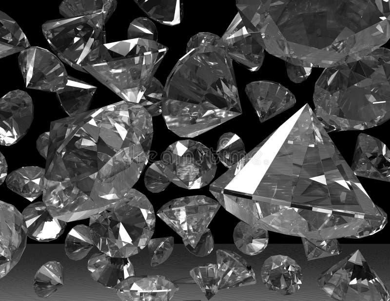 diamanter royaltyfri illustrationer