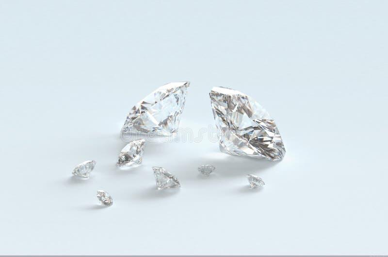 diamanter royaltyfri fotografi