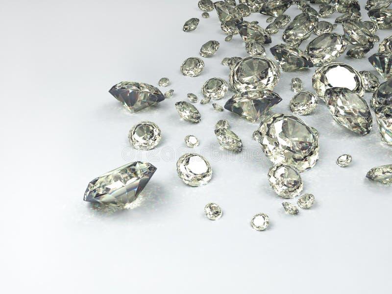 diamanter vektor illustrationer