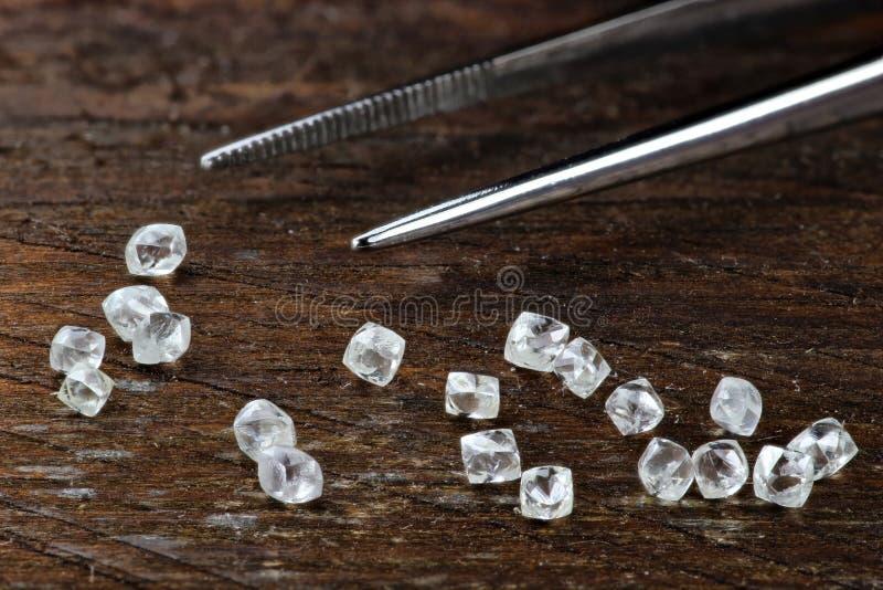 Diamantes ásperos 05 fotos de archivo libres de regalías