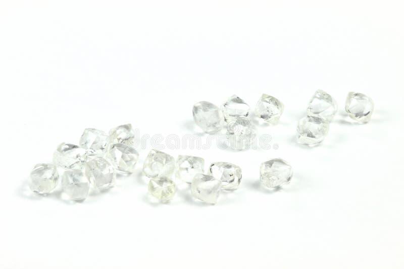Diamantes ásperos 09 imagens de stock