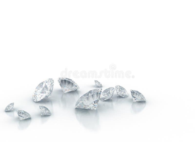 Diamantes ilustração royalty free