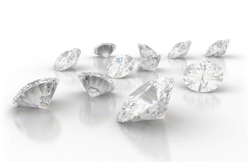 Diamantes ilustração do vetor