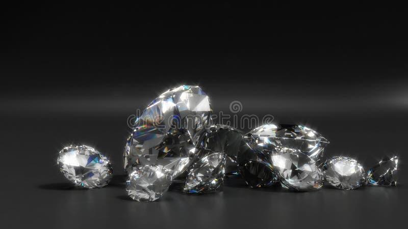 Diamantes ilustração stock