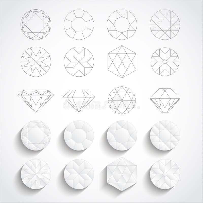 Download Diamantes ilustração do vetor. Ilustração de branco, vetor - 65581606