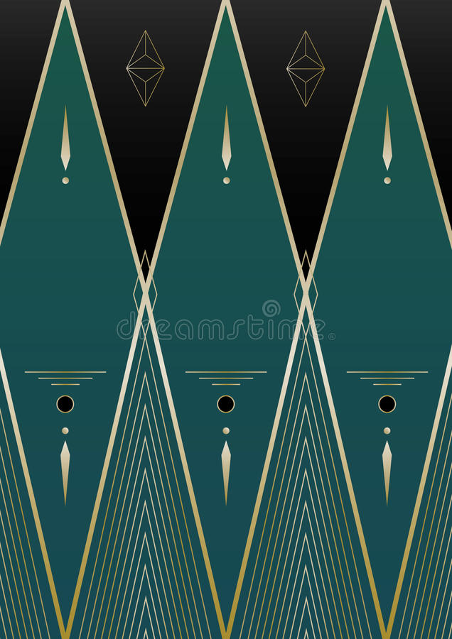 Diamantes Art Deco Background libre illustration