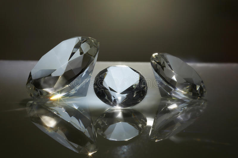 Diamantes brilhantes fotografia de stock