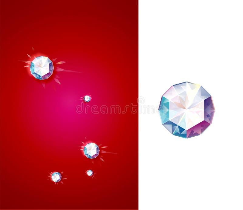 Diamantes brillantes stock de ilustración