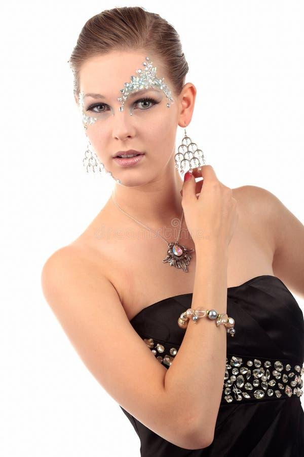 Diamantes da mulher imagens de stock