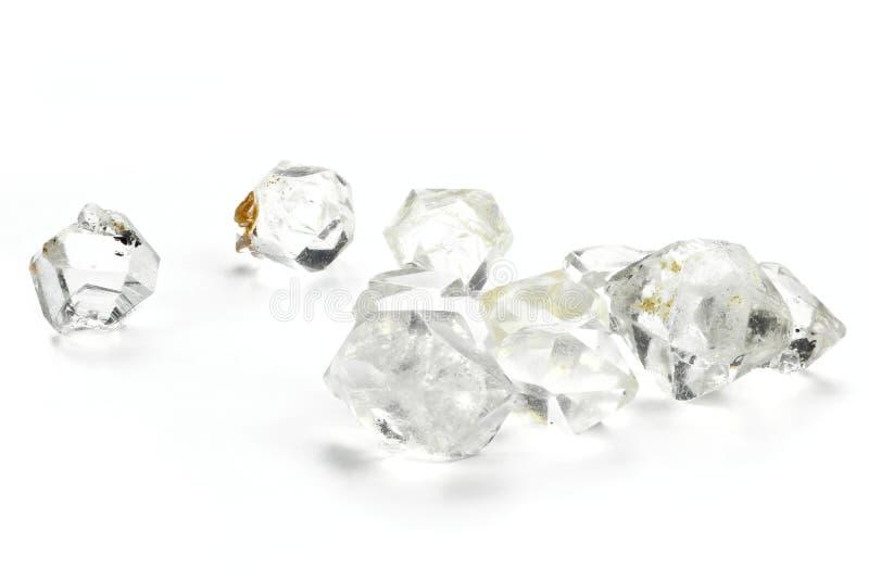 Diamantes de Herkimer foto de archivo libre de regalías