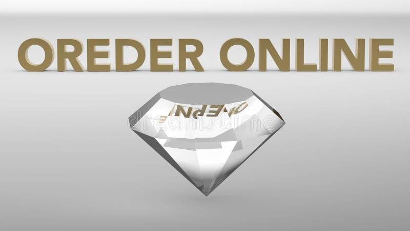 Diamantes de la orden en línea libre illustration