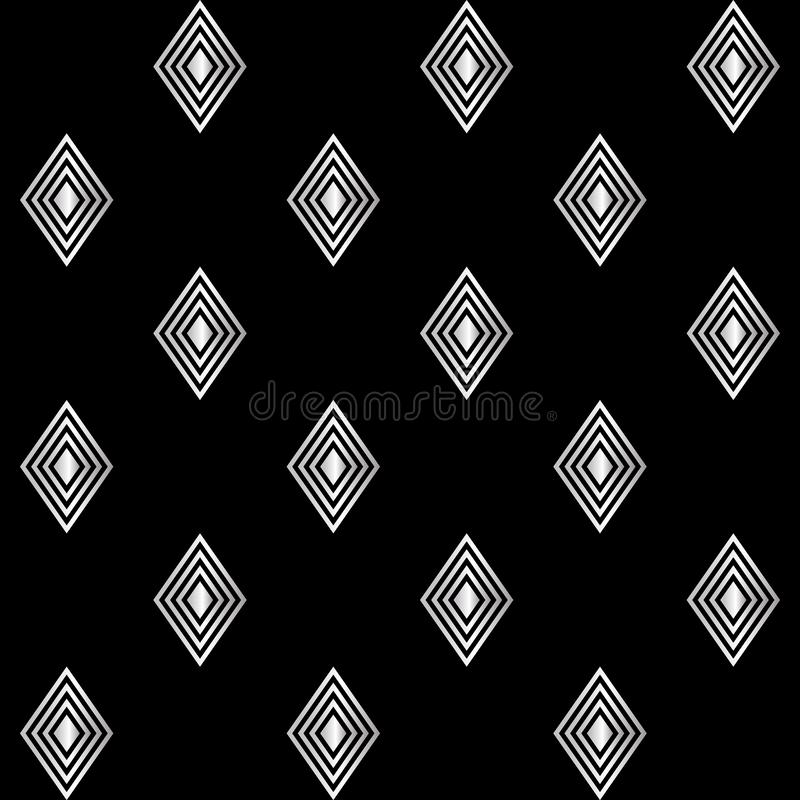 Diamantes de plata en negro libre illustration
