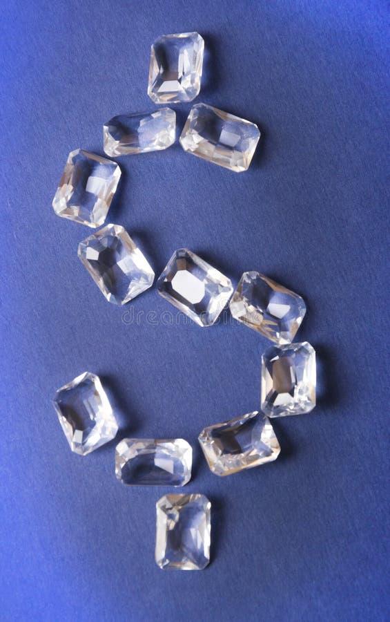Diamantes del dólar presentados imagenes de archivo