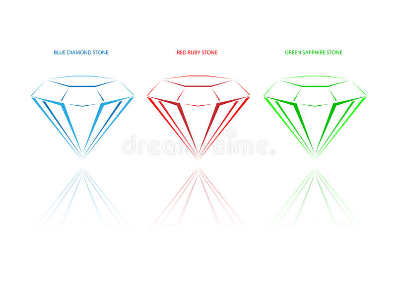 Diamantes do cristal da mineração ilustração do vetor