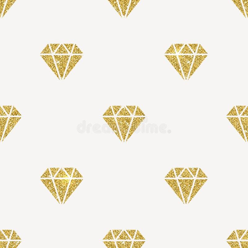 Diamantes do ouro do brilho ilustração royalty free