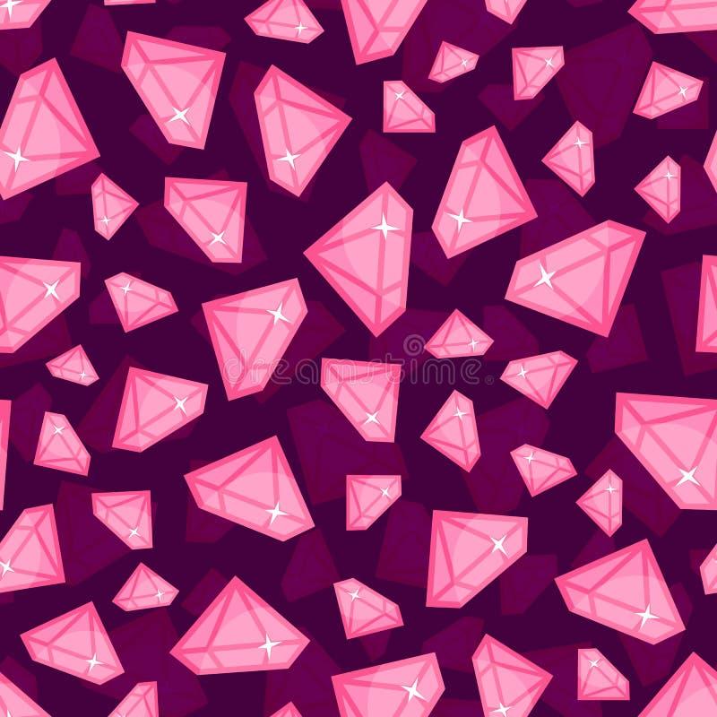Diamantes do vetor sem emenda do teste padrão do tamanho diferente ilustração stock