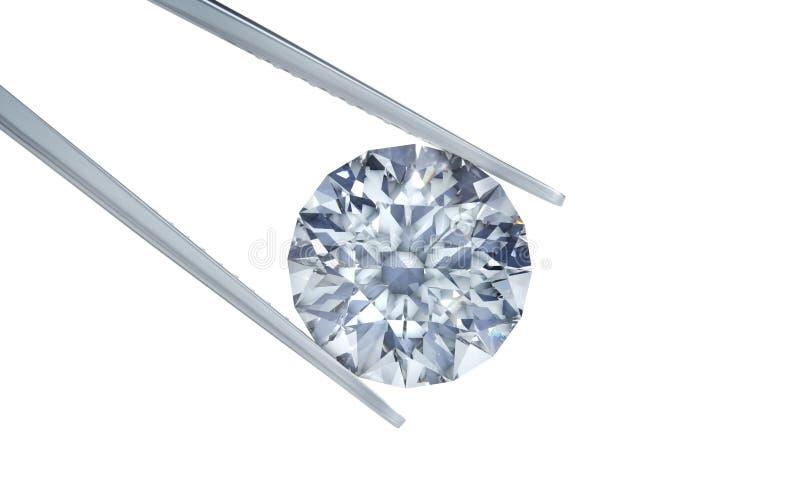Diamantes en un fondo blanco stock de ilustración
