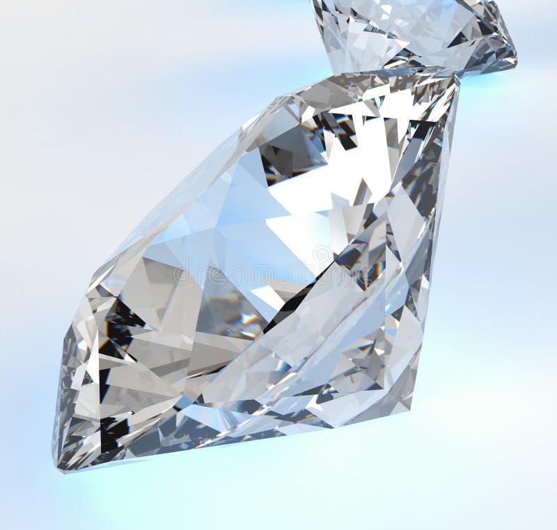 Diamantes isolados ilustração do vetor