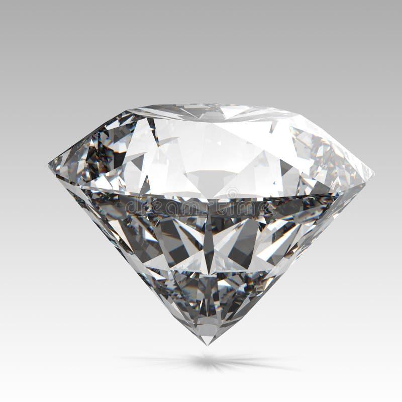 Diamantes isolados ilustração stock