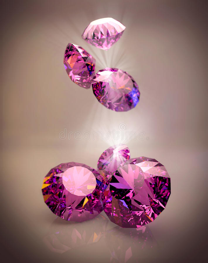 Diamantes luxuosos, rubi ilustração royalty free
