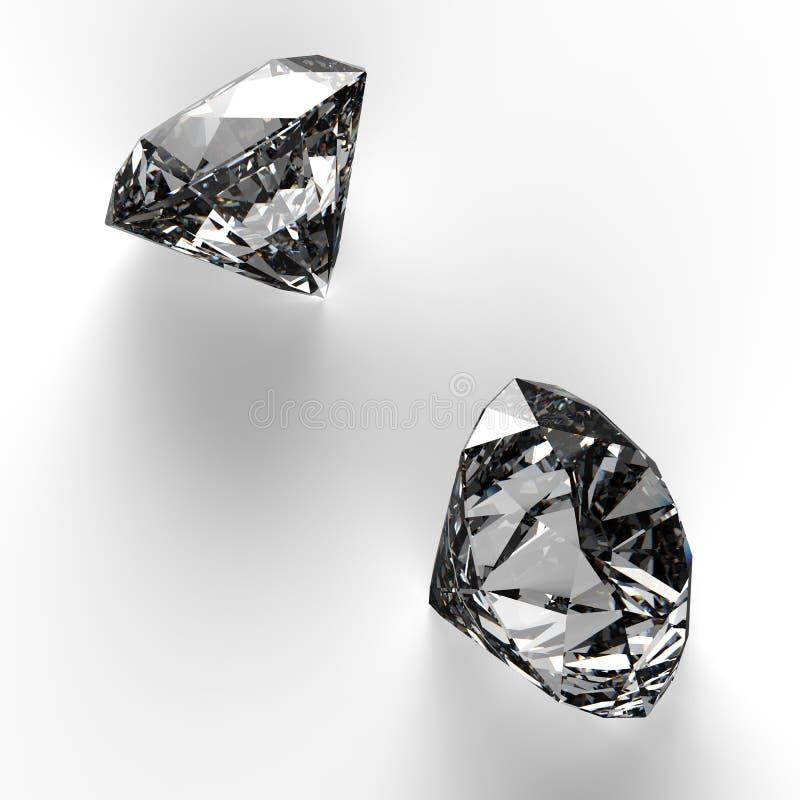 Diamantes no branco ilustração do vetor