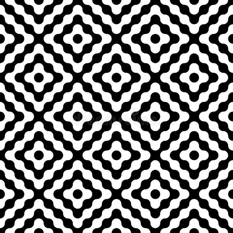 Diamantes sem emenda modernos do teste padrão da geometria do vetor ilustração stock