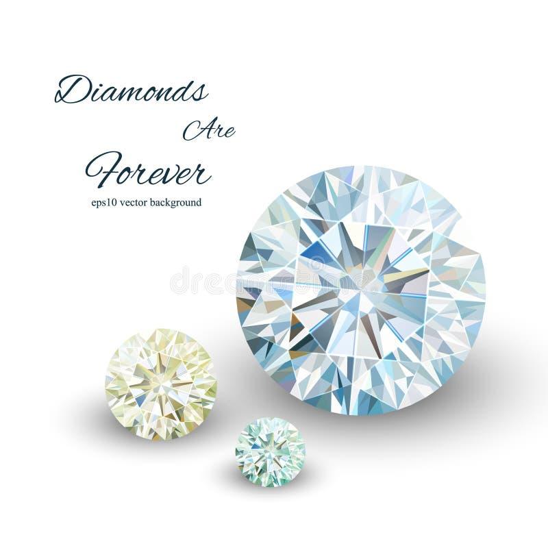Diamantes Vector ilustración del vector