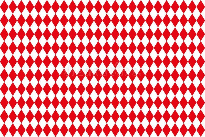 Diamantes vermelhos no branco ilustração do vetor