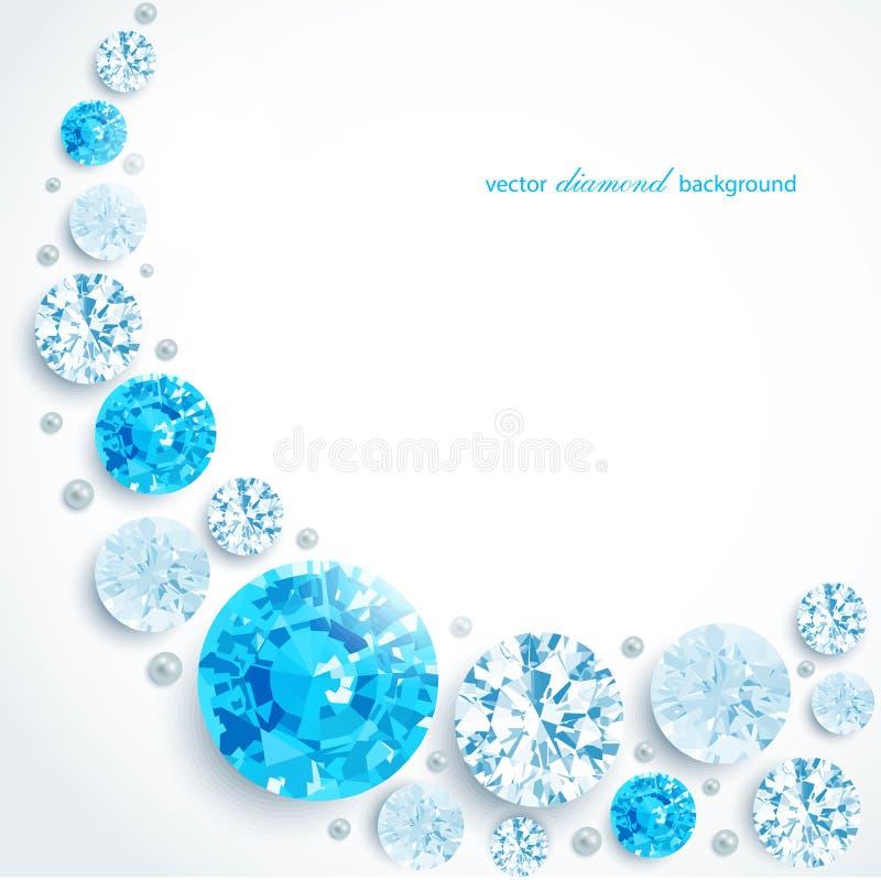 Diamantes y perlas abstractos del fondo ilustración del vector