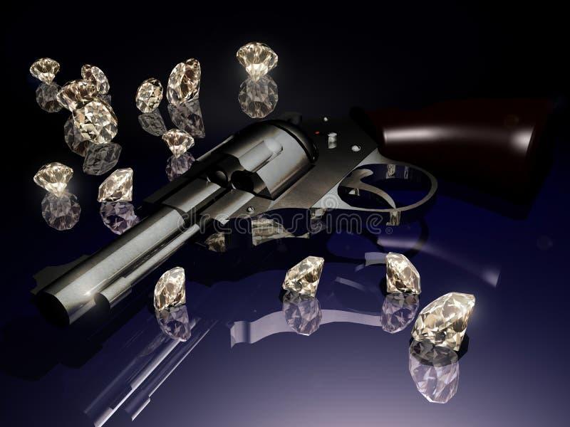 Diamantes y violencia ilustración del vector