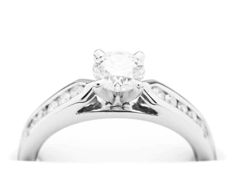 diamantförlovningsring arkivbilder