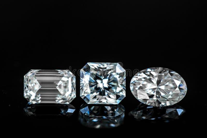 Diamantformen stockbilder
