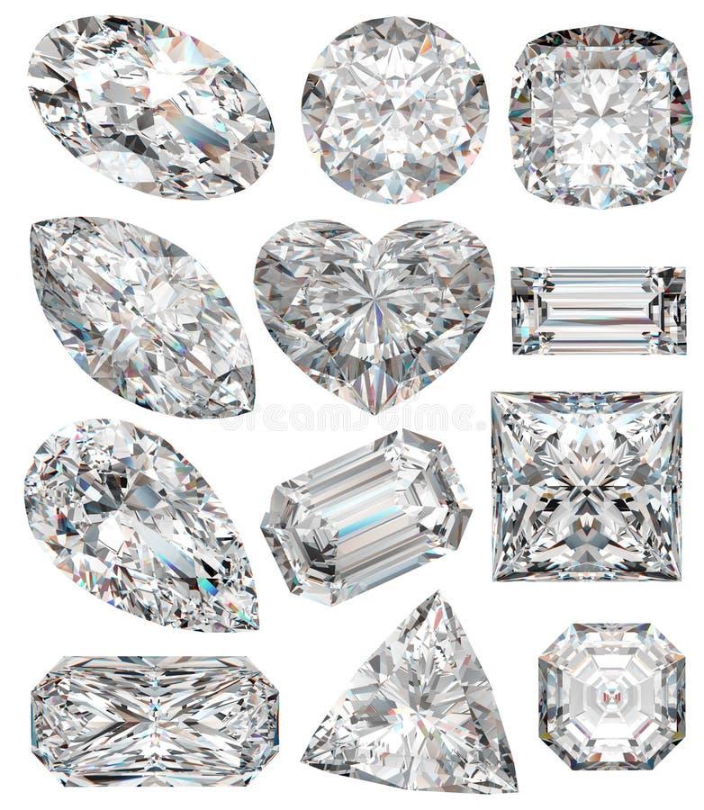 diamantformer stock illustrationer
