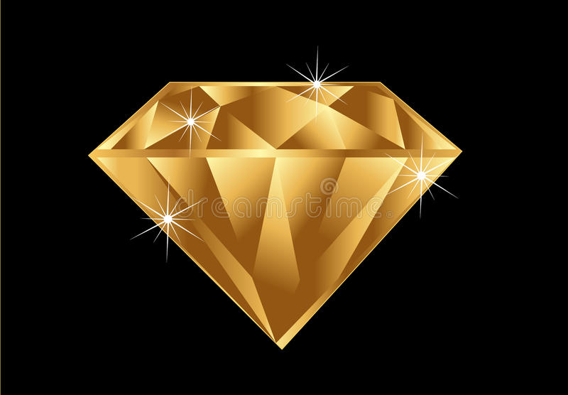 diamantguld royaltyfri illustrationer