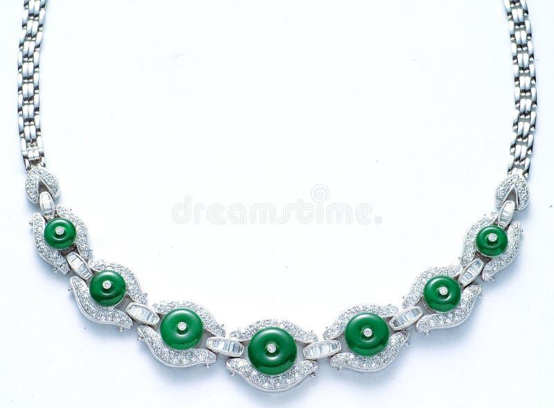 Diamanthalsband royaltyfri foto