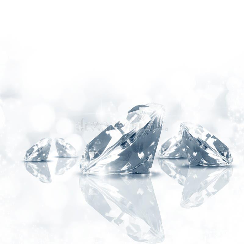 Diamanthintergrund stockfotos
