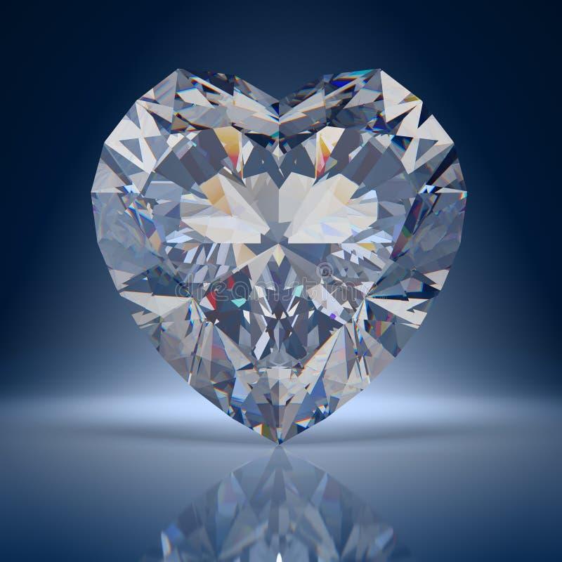 Diamanthjärta vektor illustrationer