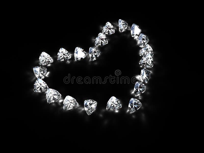 diamanthjärta arkivfoton