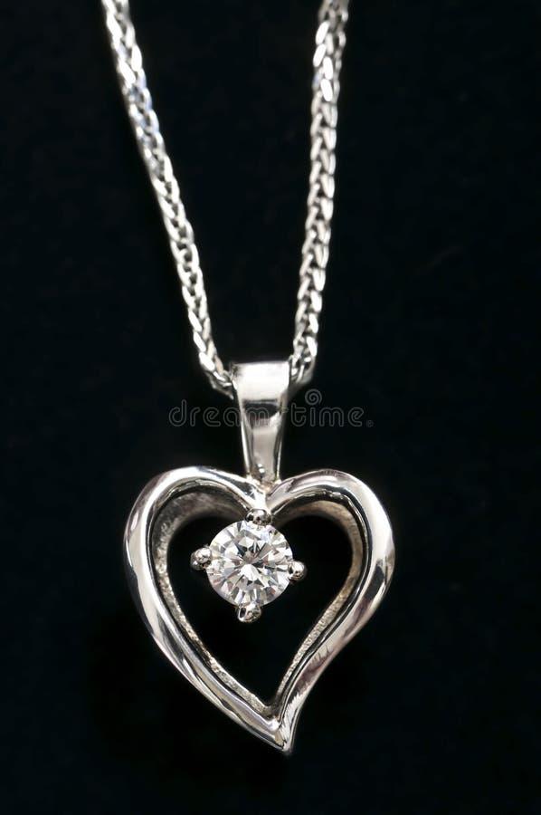 diamanthjärtahalsband royaltyfri bild