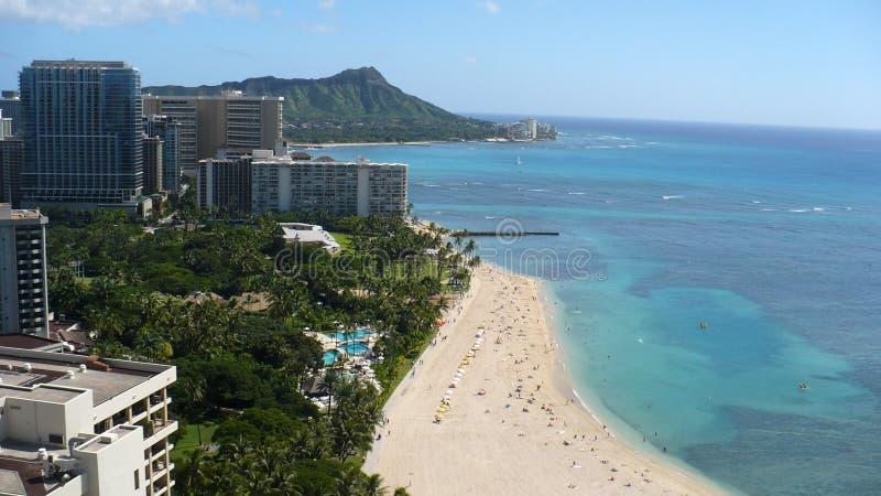 Diamanthuvud från över, Honolulu, Oahu, Hawaii arkivfoton
