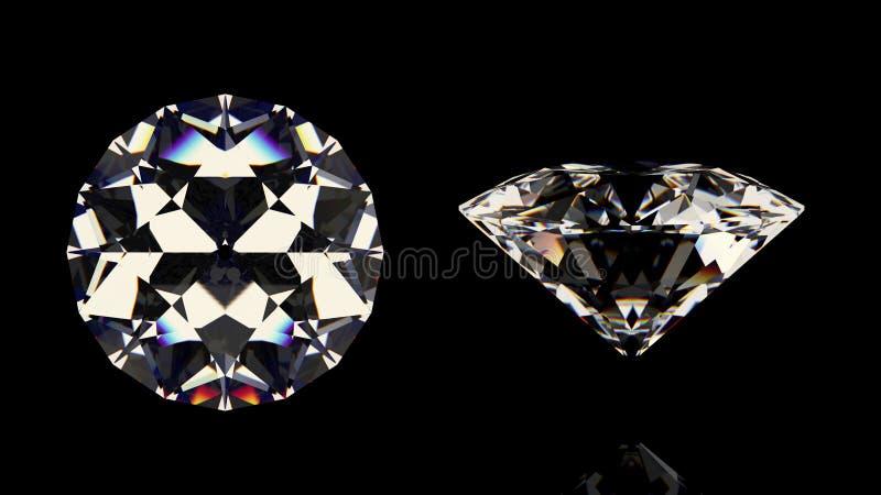 Diamanti brillanti messi illustrazione vettoriale