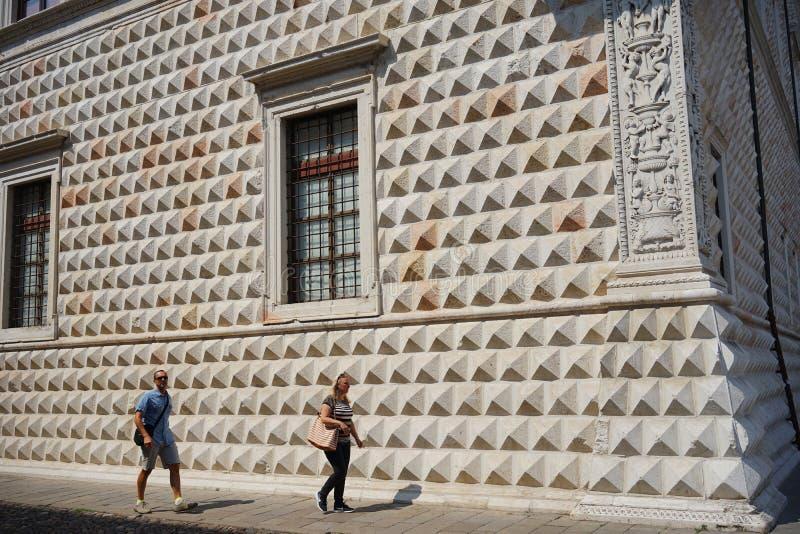 Diamanti del dei del palazzo de Ferrara fotos de archivo libres de regalías