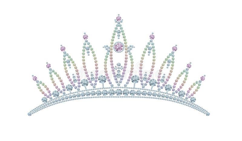 Diamanti di re Crown illustrazione vettoriale