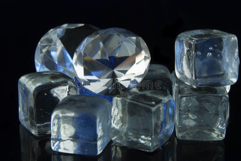Diamanti e ghiaccio fotografia stock
