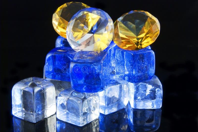 Diamanti e ghiaccio fotografia stock libera da diritti